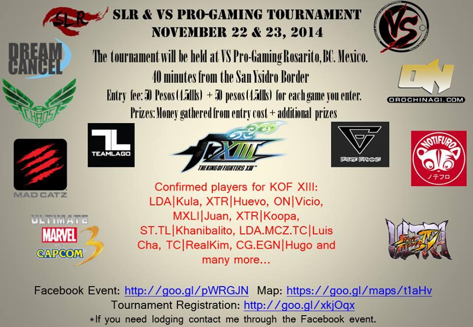 slr vs progaming tournament november 22