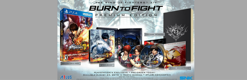King of Fighters XIV Burn To Fight Premium Edition Currently