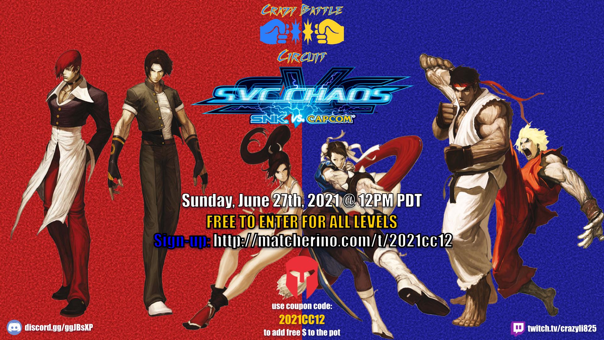2021 CBC SVC tournament flier